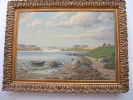 Nad jeziorem - zabytkowy obraz